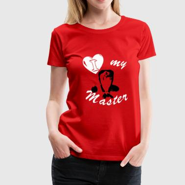 Filthy Erotic T-Shirt - Slavegirl - I love my master - Women's Premium T-Shirt