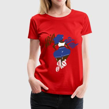 big fat ass girl - Women's Premium T-Shirt