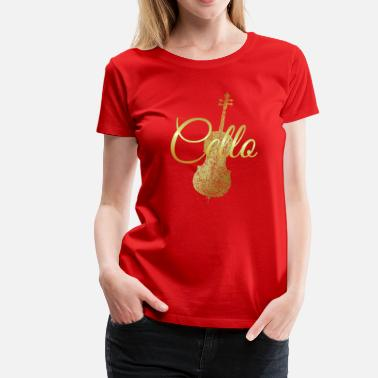 Ancient Kids Cello Script (Ancient Gold) - Women's Premium T-Shirt