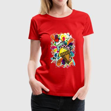 Ice_Cream_Paint - Women's Premium T-Shirt