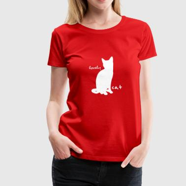 lovely cat white - Women's Premium T-Shirt