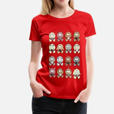 Many Dogs Many dogs - Women's Premium T-Shirt
