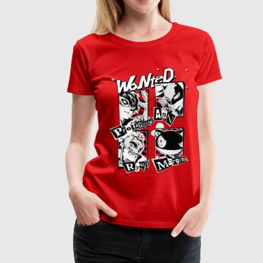 Persona 5 Wanted Poster - Women's Premium T-Shirt