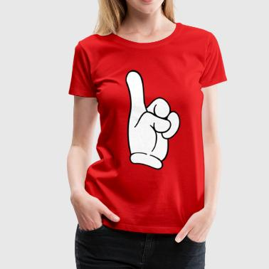Pointing Hand Finger - Women's Premium T-Shirt