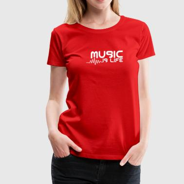 Music is life with pulse - Women's Premium T-Shirt