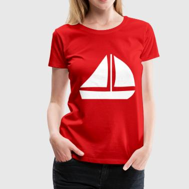 Sail Boat with two sails - Women's Premium T-Shirt