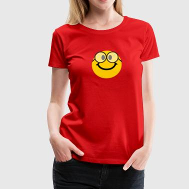Geek Smiley Geek / Nerd Smiley - Women's Premium T-Shirt