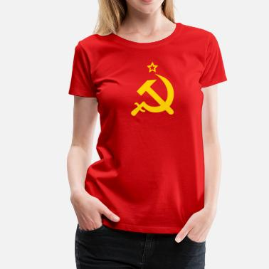 Arm And Hammer Hammer and Sickle CCCP USSR Coat of Arms Russia - Women's Premium T-Shirt