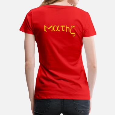 Formula Calculus maths_with_greek_letters_mathematics - Women's Premium T-Shirt