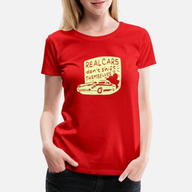 Jaguar Car Real Cars don't Shift | Oldtimer Car Shirt Gift - Women's Premium T-Shirt