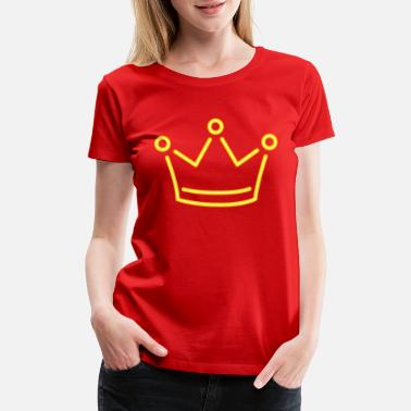 Monarchy Monarch Yellow crown king corona vip vector image - Women's Premium T-Shirt
