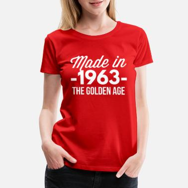 1963 Aged To Made in 1963 the golden age - Women's Premium T-Shirt