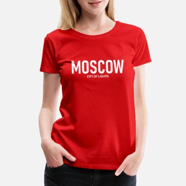 Ussr Communism Moscow - City of Lights - Russia - Soviet - Women's Premium T-Shirt
