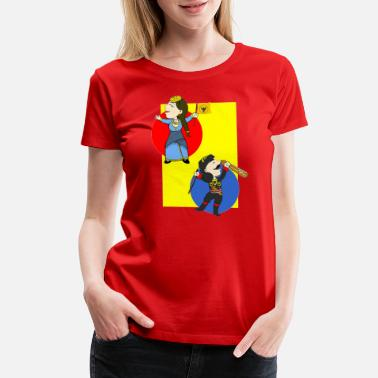 Lyra Cartoon - Pontios & Pontia - Flag & Lyra - Women's Premium T-Shirt