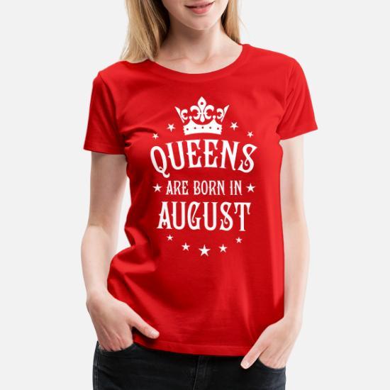 803c30fd0 20 Queens are born in August Crown Woman Women's Premium T-Shirt ...