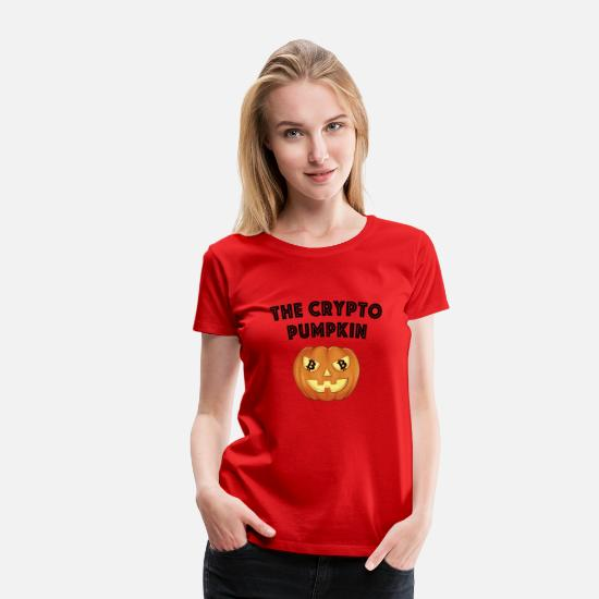 Magic T-Shirts - The Crypto Pumpkin - Women's Premium T-Shirt red