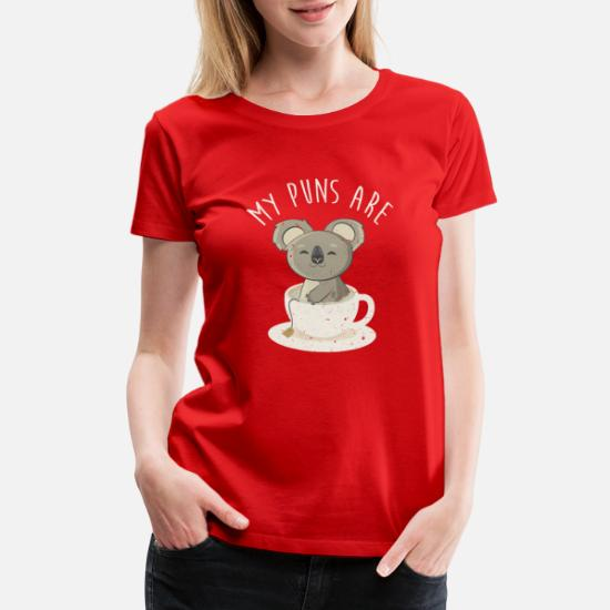 Koala Tea Puns Womens T-Shirt