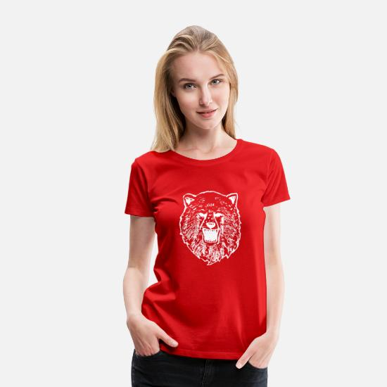 "Grizzly T-Shirts - cool shirt hoodie ""Grizzly bear"" gift idea - Women's Premium T-Shirt red"