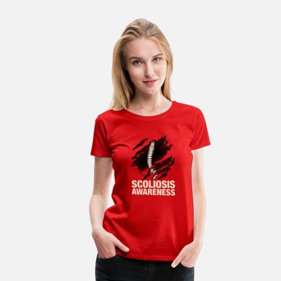 Disabled T-Shirts - Scoliosis Awareness - Women's Premium T-Shirt red