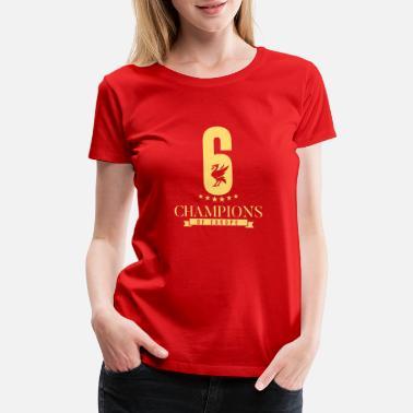 Cool T Sports T Shirt Men/'s Womens Red Printed LFC 6 Times European Champions