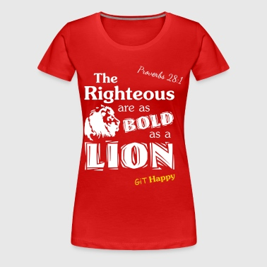 Proverbs 28:1 - Women's Premium T-Shirt