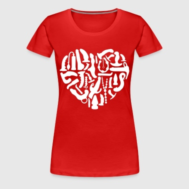 Kinky Sex Tools Heart - Women's Premium T-Shirt
