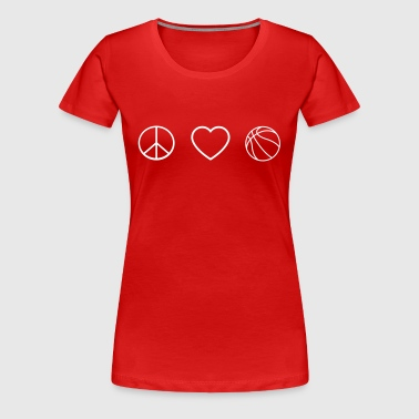 Peace love basketball - Women's Premium T-Shirt