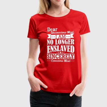 I am no longer enlaved - Women's Premium T-Shirt