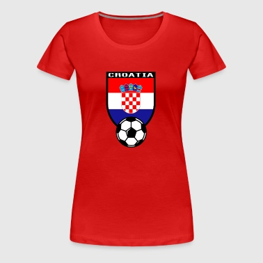 European Football Championship 2016 Croatia - Women's Premium T-Shirt