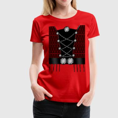 Faroese Traditional Female Red - Women's Premium T-Shirt