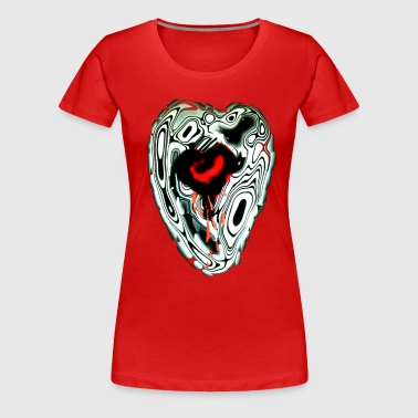 Bleeding Heart Design - Women's Premium T-Shirt
