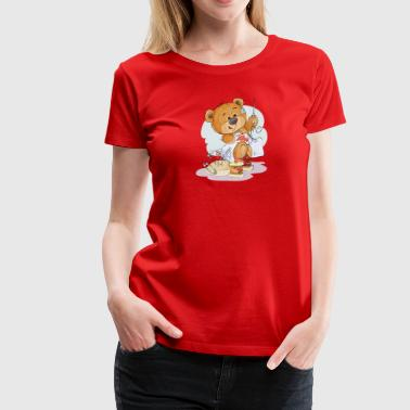bear tailor needle pin thread heart - Women's Premium T-Shirt