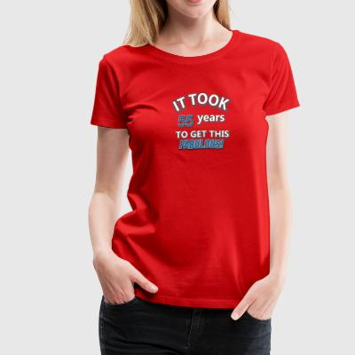 55th birthday designs - Women's Premium T-Shirt