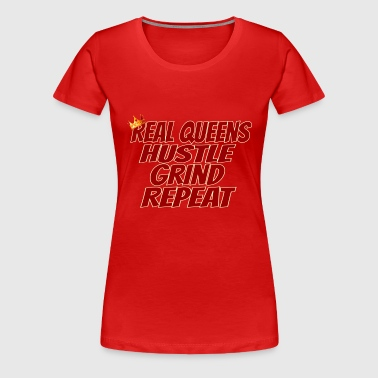 Real Queens-Crimson on Cream - Women's Premium T-Shirt