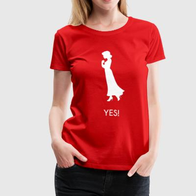 Marriage Proposal Accept Girl - Women's Premium T-Shirt
