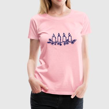 Advent Candles - Women's Premium T-Shirt