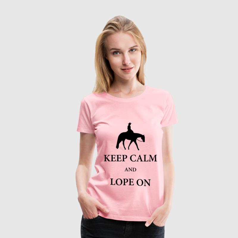 Western Pleasure Horse Silhouette with Quote - Women's Premium T-Shirt