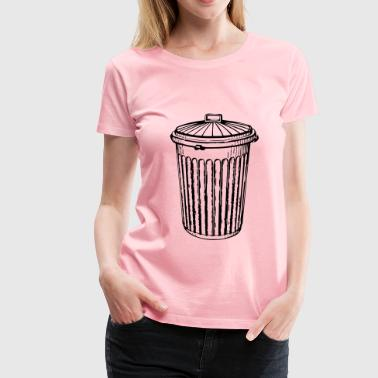 trash can - Women's Premium T-Shirt