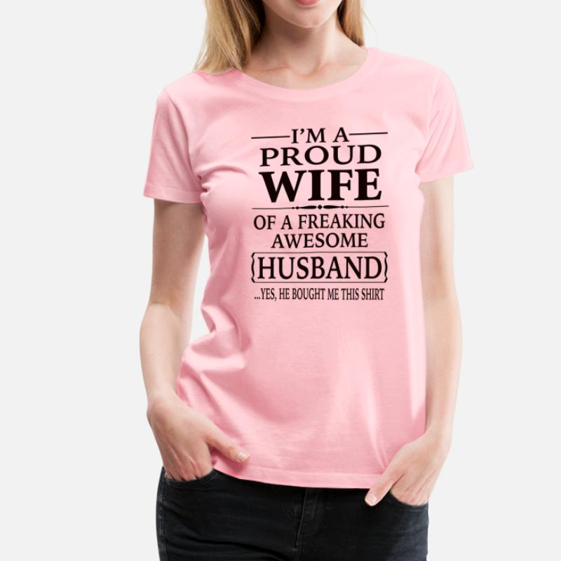 220b689f Shop Freaking Awesome Wife T-Shirts online | Spreadshirt