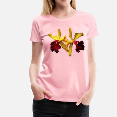 Susan Magenta and Yellow Orchid Duo - Women's Premium T-Shirt