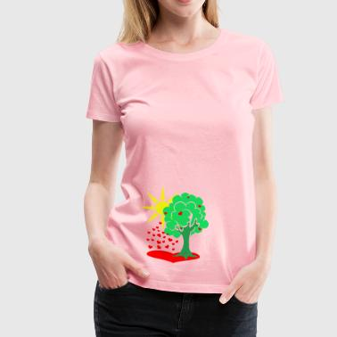 The tree of love - Women's Premium T-Shirt