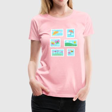 Spring Stamp Collection - Women's Premium T-Shirt