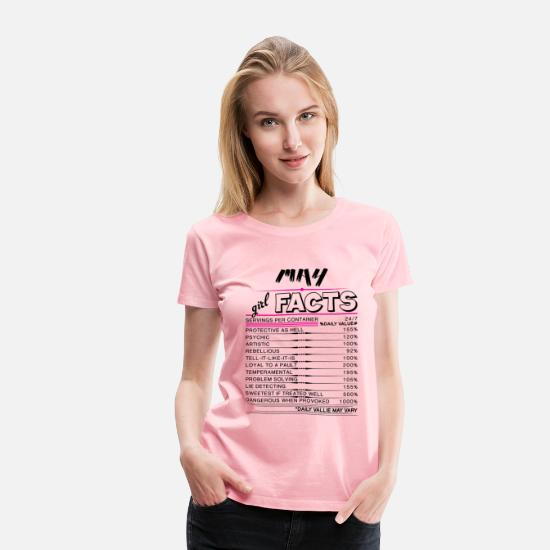 Girl T-Shirts - May Girl Facts - Women's Premium T-Shirt pink