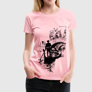 Gondolier and Bridges - Women's Premium T-Shirt