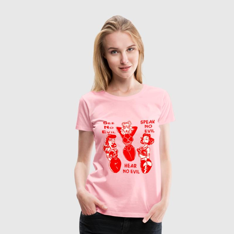 See No Evil Hear No Evil Speak No Evil sext Bondag - Women's Premium T-Shirt