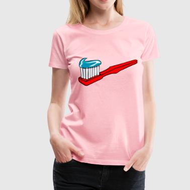 Toothbrush With Toothpaste - Women's Premium T-Shirt