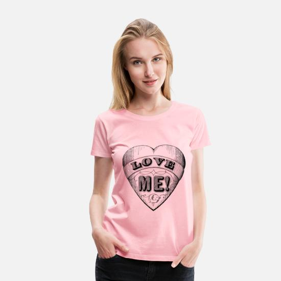 Funny T-Shirts - Cartoon Heart - Women's Premium T-Shirt pink