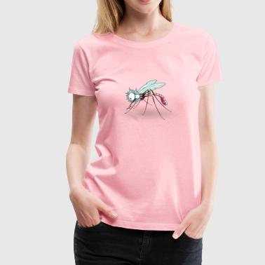 Funny Mosquito from side - Women's Premium T-Shirt