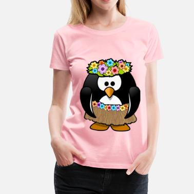 Aloha Hawaiian Penguin - Women's Premium T-Shirt
