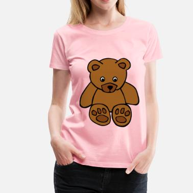The Teddy Bear Picnic Simple Teddy Bear - Women's Premium T-Shirt